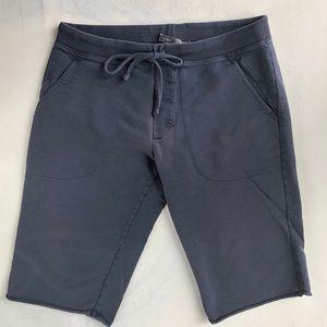 Vince Faded Blue Sweat Shorts Drawstring Waist